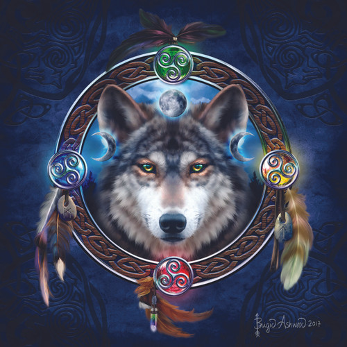 Celtic Wolf Guide - 1000pc Jigsaw Puzzle By Sunsout