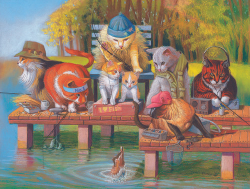 Fishing on the Dock - 300pc Jigsaw Puzzle By Sunsout