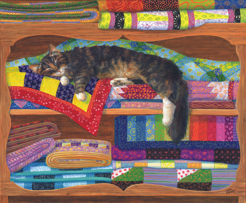 Quilt Cupboard - 1000pc Jigsaw Puzzle By Sunsout