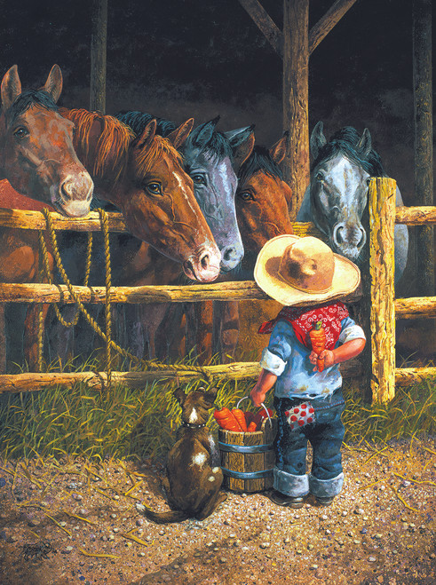 Friendly Persuasion - 300pc Jigsaw Puzzle By Sunsout