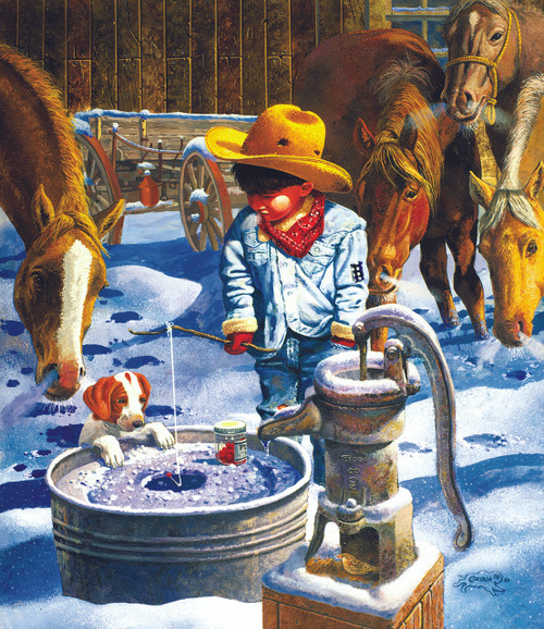 Ice Fishing - 550pc Jigsaw Puzzle By Sunsout