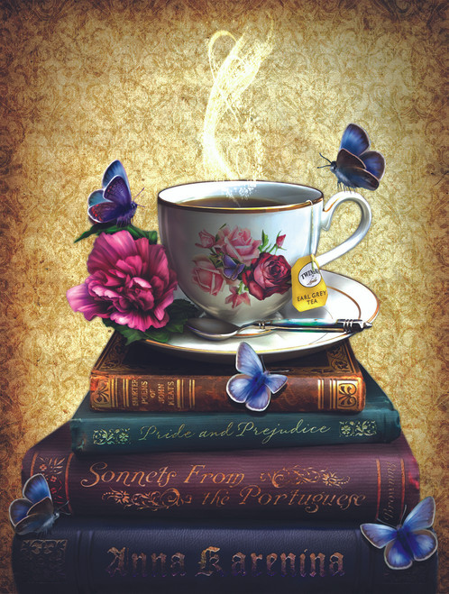 Tea and Books - 500pc Jigsaw Puzzle By Sunsout