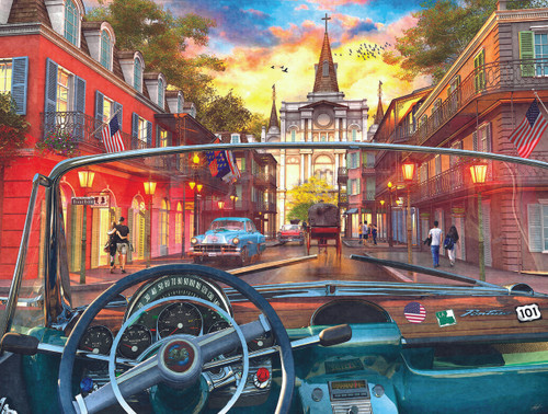 Window on New Orleans - 500pc Jigsaw Puzzle By Sunsout