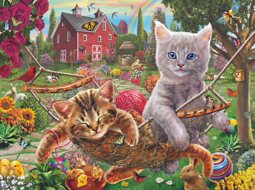 Cats on the Farm - 1000pc Jigsaw Puzzle By Sunsout