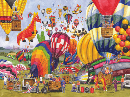 Balloon Landing - 300pc Jigsaw Puzzle By Sunsout