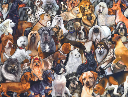 Dog World - 300pc Jigsaw Puzzle By Sunsout