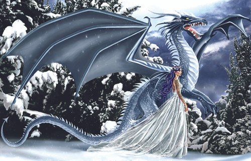 Nene Thomas: Ice Dragon - 1000pc Jigsaw Puzzle By Sunsout