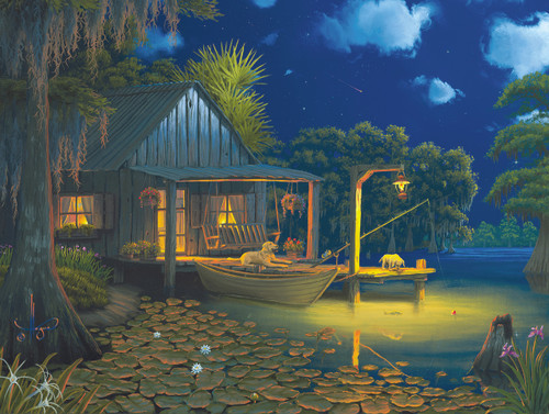 Bayou Moon - 500pc Jigsaw Puzzle By Sunsout