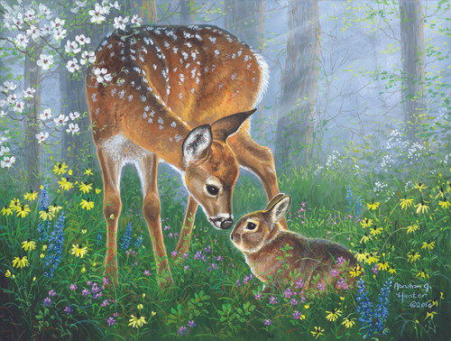 Forest Friendship - 500pc Jigsaw Puzzle By Sunsout