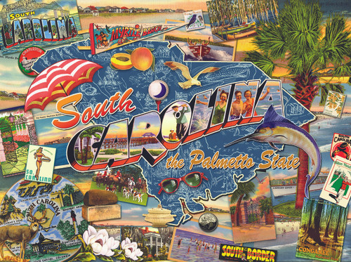 South Carolina - 1000pc Jigsaw Puzzle By Sunsout