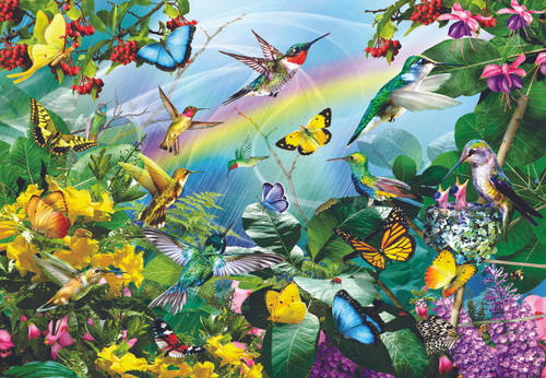 Hummingbird Flight - 200pc Jigsaw Puzzle By Sunsout