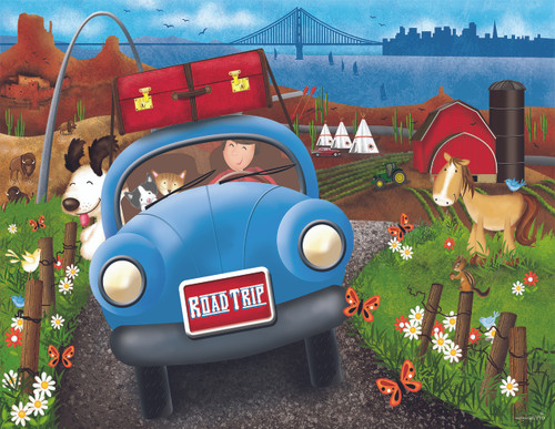 Road Trip - 63pc Jigsaw Puzzle By Sunsout