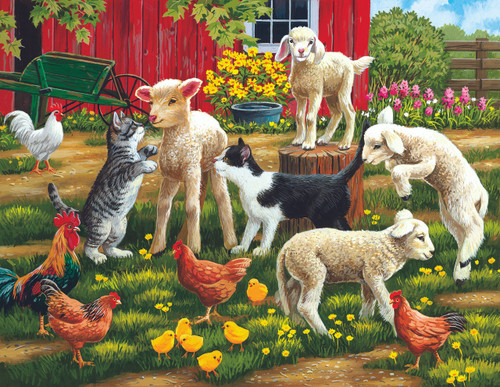 Farm Dance - 63pc Jigsaw Puzzle By Sunsout