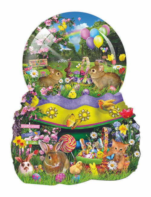Easter Globe - 1000pc Shaped Jigsaw Puzzle By Sunsout