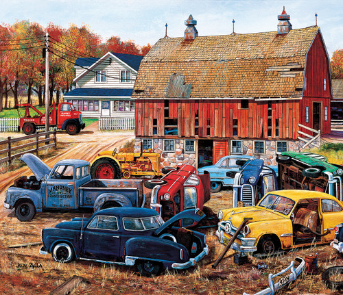 Barnyard Treasures - 25pc Large Piece Jigsaw Puzzle By Sunsout