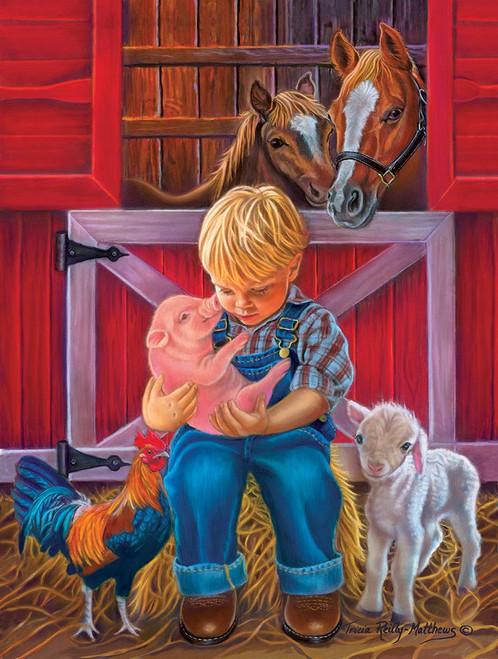 Little Farm Friends - 500pc Jigsaw Puzzle By Sunsout