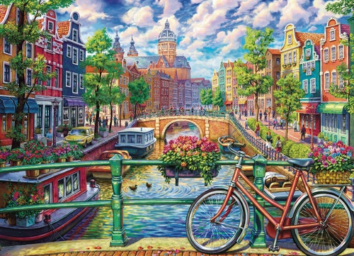 Amsterdam Canal - 1000pc Jigsaw Puzzle By Cobble Hill