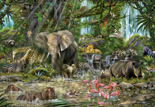 African Jungle - 2000pc Jigsaw Puzzle By Educa