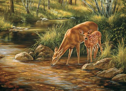 Deer Family - 350pc Family Jigsaw Puzzle by Cobble Hill