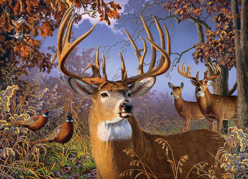 Deer and Pheasant - 500pc Jigsaw Puzzle By Cobble Hill