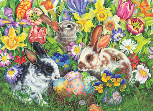 Easter Bunnies - 500pc Jigsaw Puzzle By Cobble Hill