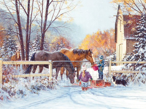 First Snow - 275pc Easy Handling Jigsaw Puzzle by Cobble Hill