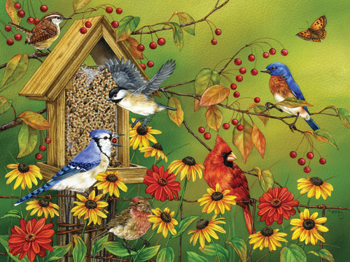 Fall Feast - 275pc Easy Handling Jigsaw Puzzle by Cobble Hill