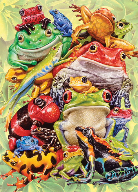 Frog Pile - 350pc Family Jigsaw Puzzle by Cobble Hill