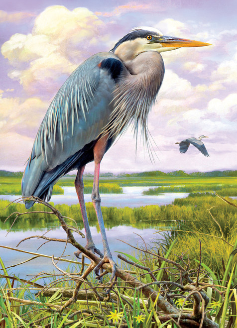 Heron - 1000pc Jigsaw Puzzle By Cobble Hill