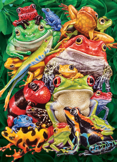 Frog Business - 1000pc Jigsaw Puzzle By Cobble Hill