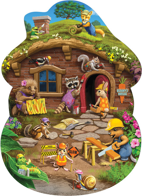 Rabbit's House - 24pc Floor Jigsaw Puzzle By Cobble Hill