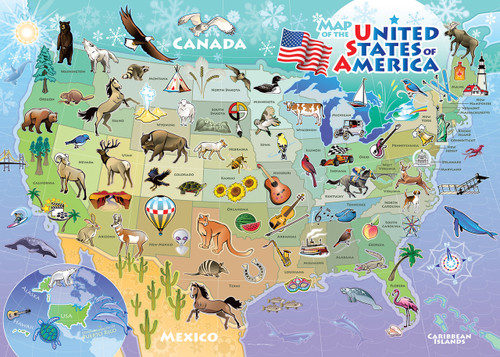 USA Map - 35pc Tray Puzzle by Cobble Hill