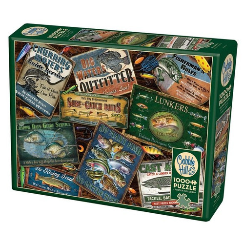 Fish Signs - 1000pc Jigsaw Puzzle by Cobble Hill