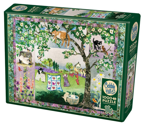 Wind in the Whiskers - 1000pc Jigsaw Puzzle By Cobble Hill