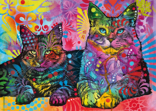 Devoted 2 Cats - 1000pc Jigsaw Puzzle By Heye
