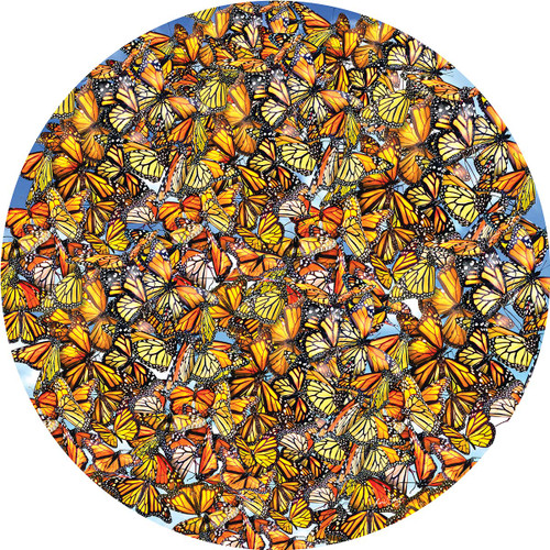 Monarch Frenzy - 1000pc Shaped Jigsaw Puzzle By Sunsout