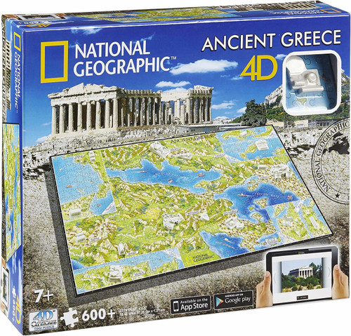 National Geographic Ancient Greece - 600pc Jigsaw Puzzle By 4D Cityscape