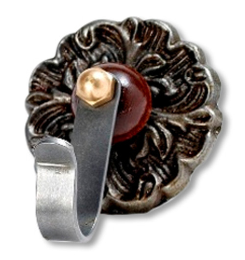 Cast Iron decorative rose hook for Tavern Puzzles