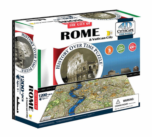 Rome, Italy - 1,200pc Educational Jigsaw Puzzle by 4D Cityscape