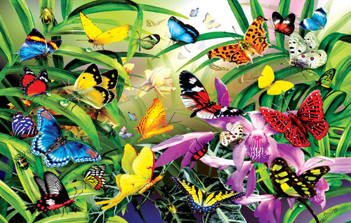 Butterflies - 30pc Jigsaw Puzzle By Sunsout