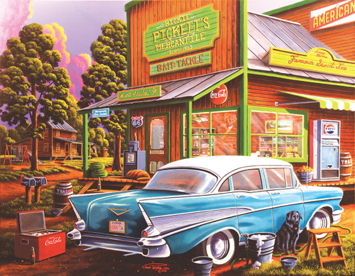 Sheila's Cafe - 35pc Large Format Jigsaw Puzzle By Sunsout