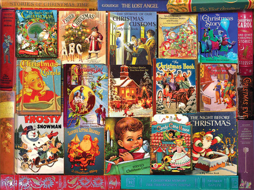 Christmas Books - 1000pc Jigsaw Puzzle By White Mountain