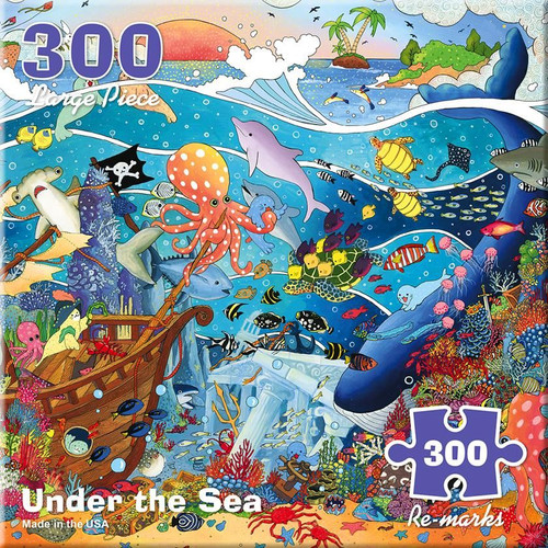 Under the Sea Ocean - 300pc Large Format Jigsaw Puzzle By Re-marks