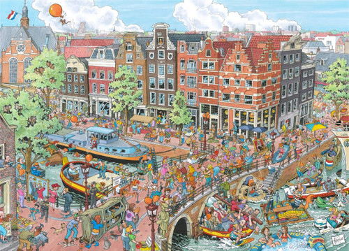 Cities of the World: Amsterdam - 1000pc Jigsaw Puzzle By Ravensburger