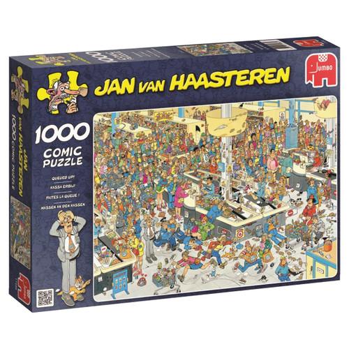 Jan van Haasteren: Queued Up! - 1000pc Jigsaw Puzzle by Jumbo