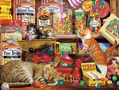 Cats: Sweet Shop Kittens - 750pc Jigsaw Puzzle by Buffalo Games