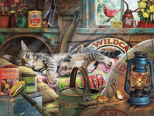 Cats: Laid-Back Tom - 750pc Jigsaw Puzzle by Buffalo Games