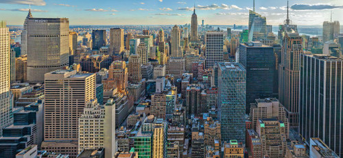 View Over New York - 2000pc Panoramic Jigsaw Puzzle By Ravensburger