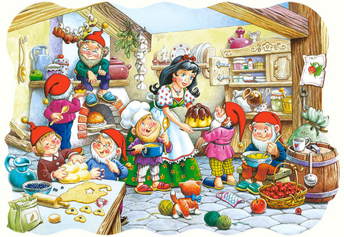 Snow White and the Seven Dwarfs - 20pc Jigsaw Puzzle by Castorland