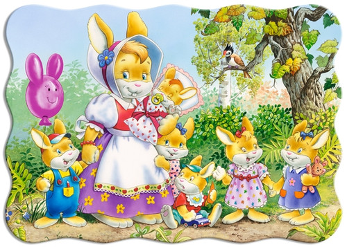 Rabbit Family - 30pc Shaped Puzzle by Castorland